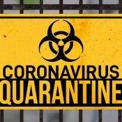 Coronavirus Bio-hazard warning sign